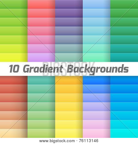 Colorful line gradient background pack. Vector