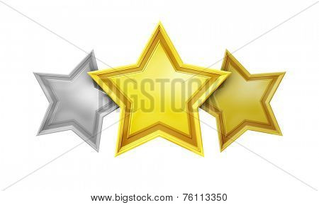An image of a three star rating service
