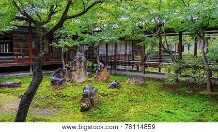 Zen Garden at Kennin-ji Temple in Kyoto Japan