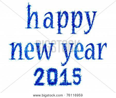 Blue Flame Happy New Year 2015
