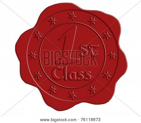 First Class Red Wax Seal