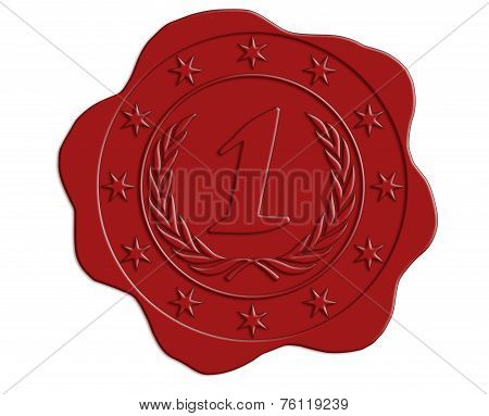 First Place Red Wax Seal
