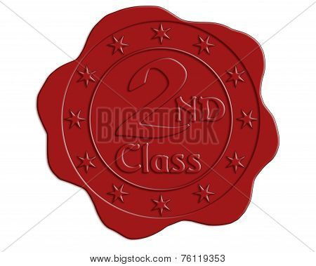 Second Class Red Wax Seal