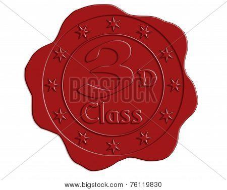 Third Class Red Wax Seal