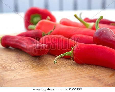 Ripe Chili Peppers