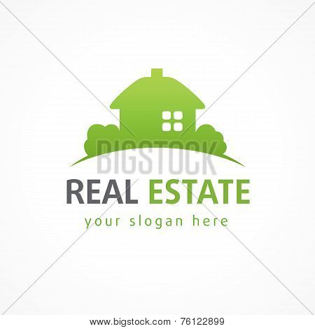 Real estate logo village green.