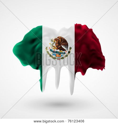 Flag of Mexico painted colors