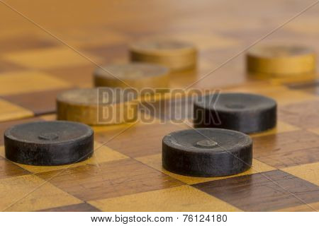 Checker Board With Checkers