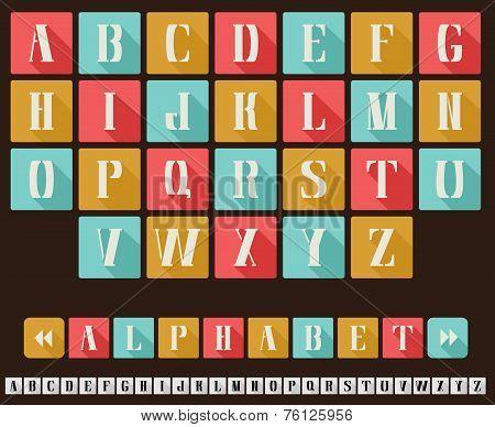 Alphabet Flat Design Style
