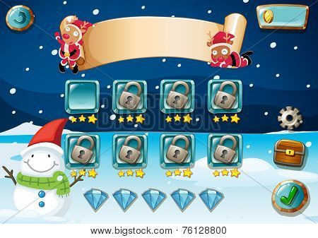 Christmas game theme with elements