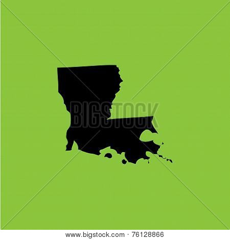 Coloured Background With The Shape Of The United States State Of Louisiana