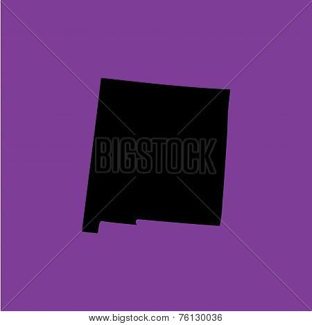 Coloured Background With The Shape Of The United States State Of New Mexico