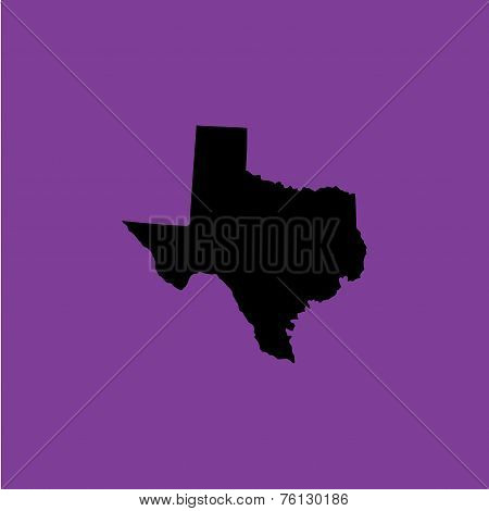 Coloured Background With The Shape Of The United States State Of Texas