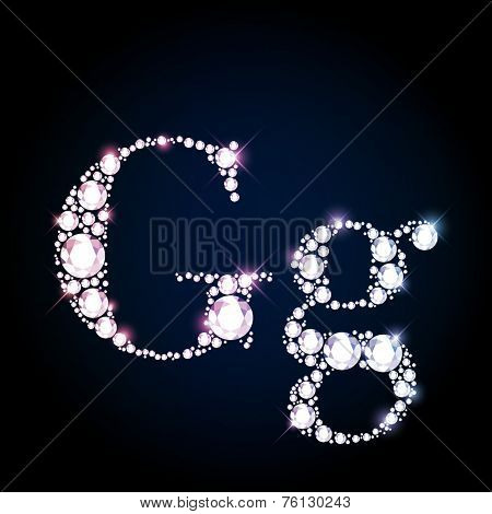 Diamond glittering letter