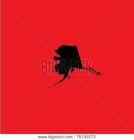 Coloured Background With The Shape Of The United States State Of Alaska