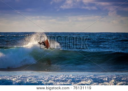 Aerial Trick Of A Bodyboarder