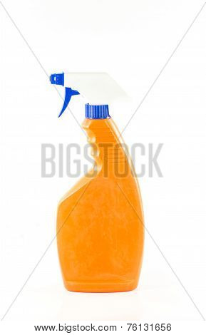 Toilet Cleaner Bottle Isolated On White