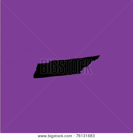 Coloured Background With The Shape Of The United States State Of Tennessee