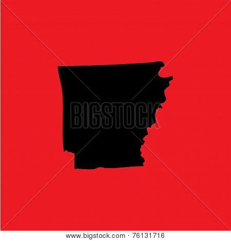 Coloured Background With The Shape Of The United States State Of Arkansas