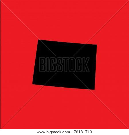 Coloured Background With The Shape Of The United States State Of Colorado