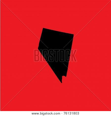 Coloured Background With The Shape Of The United States State Of Nevada