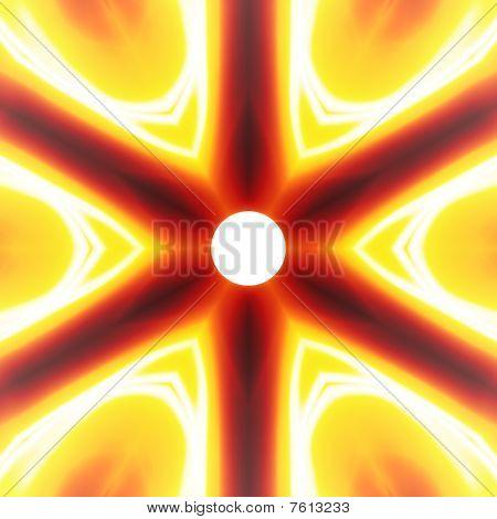 Fiery Abstract Vortex
