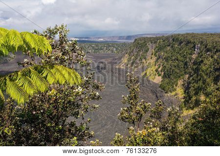 The Kilauea Caldera in Big Island, Hawaii
