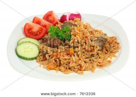 Plate Of Pilaf.