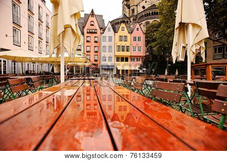 Colored Houses Of Cologne, Germany