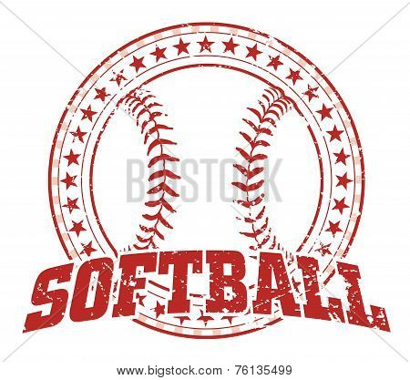 Softball Design - Vintage