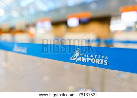 KUALA LUMPUR-MAY 06: belt in KLIA airport on May 06, 2014 in Kuala Lumpur, Malaysia. Kuala Lumpur International Airport is Malaysia's main airport and one of the major airports of South East Asian