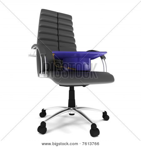 Bachelor's Hat In Office Chair