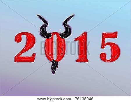 2015  Trendy Look Year Of The Goat With Horns And Goatee
