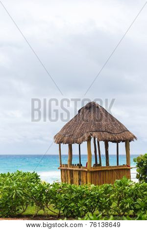 Lifeguard Pergola On Caribbean Beach
