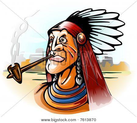 tubo de fumar chefe indiano