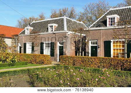 Hofje Of Pauw in Delft in The Netherlands.