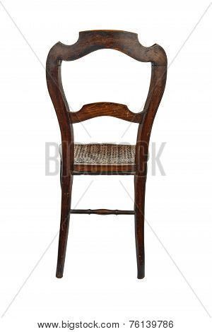 Antique Wooden Chair - Back View