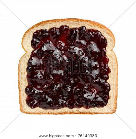 Mixed Berries Preserves On Bread