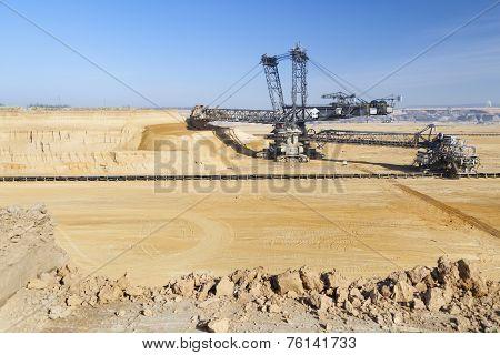 Giant Bucket Wheel Excavator