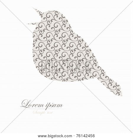 Template of brochure with stylized  bird