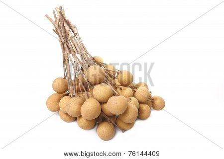 Fresh Longan Isolated On White Background