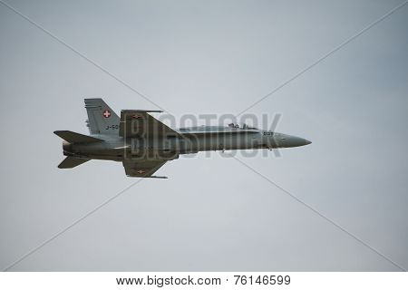 Swiss Airforce F18 Hornet Fighter Aircraft