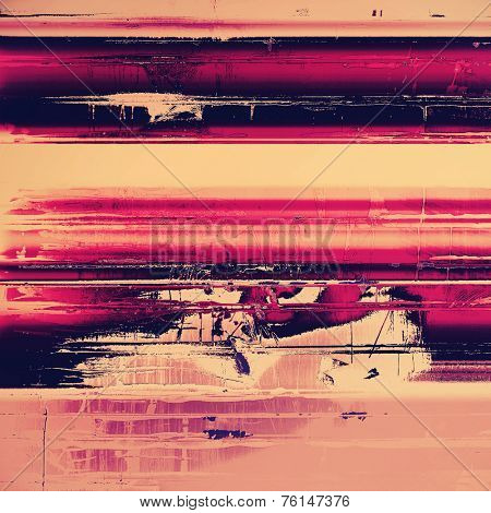 Old, grunge background texture. With different color patterns: yellow; purple (violet); red; black; pink
