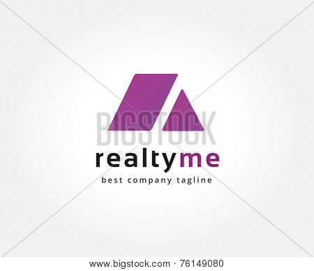 Abstract roof vector logo icon concept. Logotype template for branding and corporate design