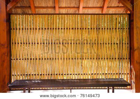 Bamboo Shelter Sitting
