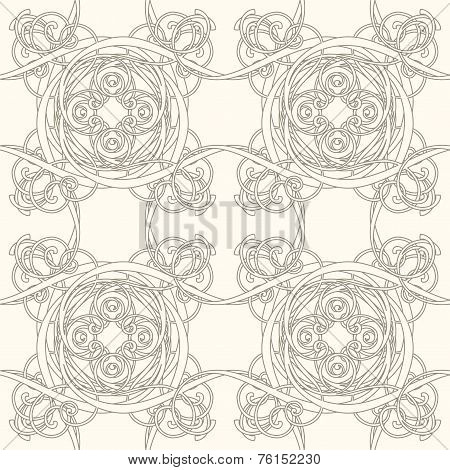 Abstract Tracery On A White Background