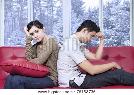 Hispanic Couple Having Problem At Home