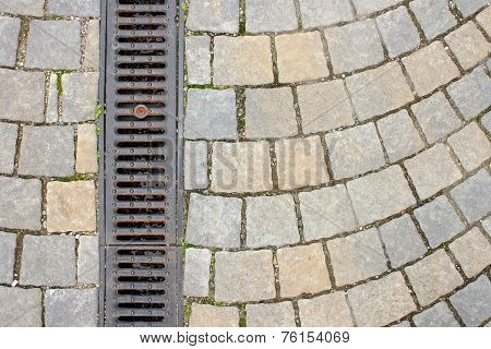Drainage On Stone Paved Street