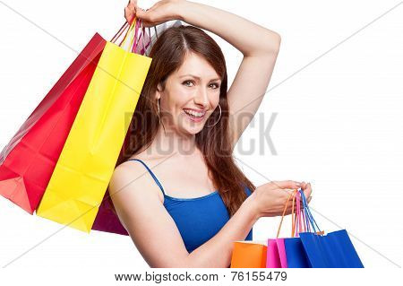 Girl With Shopping Bags.