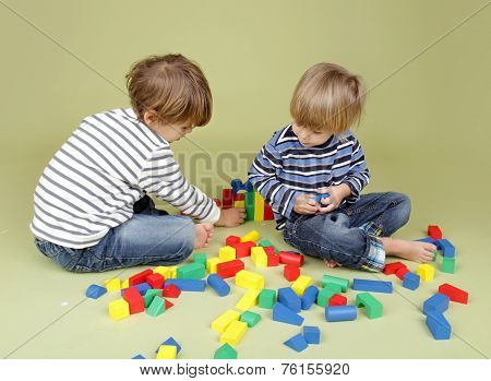 Kids Playing A Game, Sharing And Teamwork